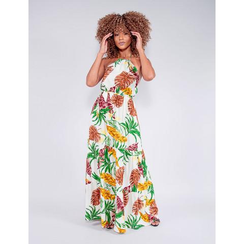 Vestido Feminino Revanche Maurizia Bege Frente