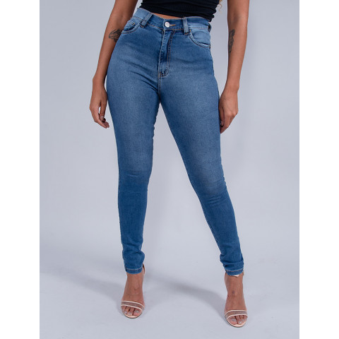 Calça Jeans Cigarrete Feminina Revanche Analu Azul Frente
