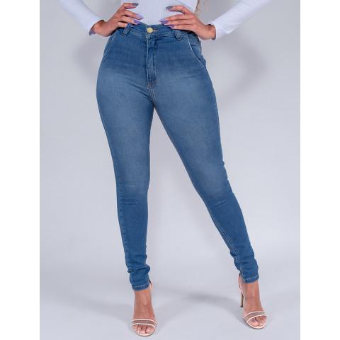 Calça Jeans Cigarrete Feminina Revanche Rana Azul Frente