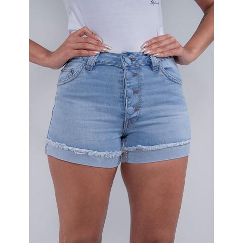 Shorts Jeans Feminino Revanche Chantell Azul Detalhe