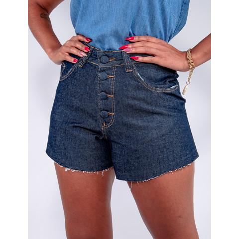 Shorts Jeans Feminino Revanche Rebeca Azul Detalhe