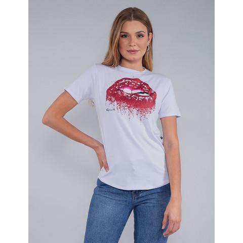 Camiseta Feminina Revanche Manuela Branco Frente
