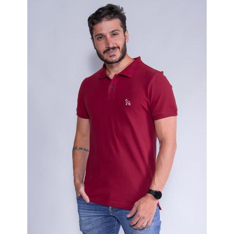 Camisa Polo Masculina Revanche Destry Vermelho Frente
