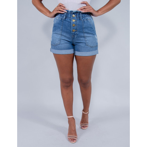 Shorts Jeans Feminino Revanche Ana sophia Azul Frente