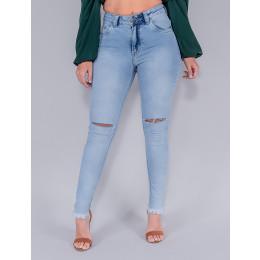 Calça Jeans Cigarrete Feminina Revanche Maia Azul