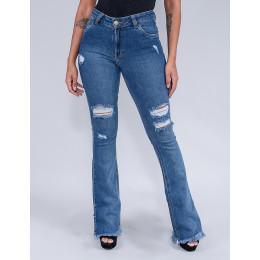 Calça Jeans Flare Feminina Revanche Afrodite Azul