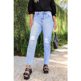 Calça Jeans Mom Feminina Revanche Avani Azul