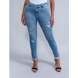 Calça Jeans Cigarrete Feminina Revanche Gabrielly Azul