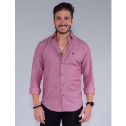 Camisa Manga Longa Masculina Revanche Raphael Rosa