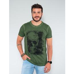 Camiseta Caveira Masculina Revanche Aristide Verde