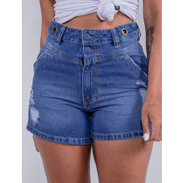 Shorts Jeans Feminino Revanche Bianca Azul