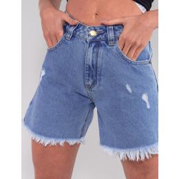 Shorts Jeans Boyfriend Feminino Revanche Charity Azul