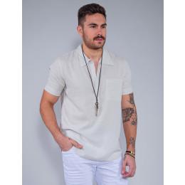 Camisa Masculina Revanche Benício Off-White