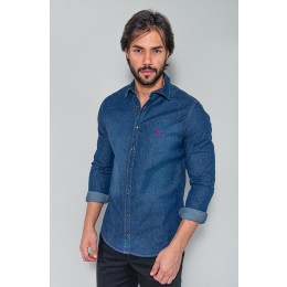 Camisa Jeans Masculina Revanche Fiance Azul