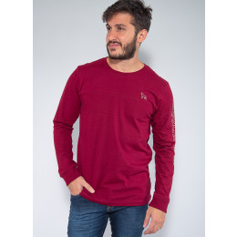 Camiseta Manga Longa Masculina Revanche Mattieu Vinho