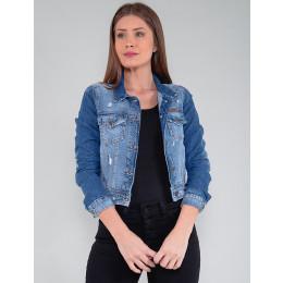 Jaqueta Jeans Feminina Revanche Renee Azul