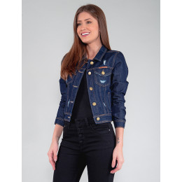 Jaqueta Jeans Feminina Revanche Navarre Azul