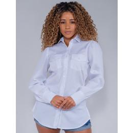 Camisa Feminina Revanche Flora Branco