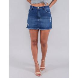 Saia Shorts Jeans Feminino Revanche Valeira Azul