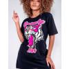 Vestido T-Shirt Feminino Revanche Luiza Preto Detalhe