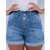 Shorts Jeans Feminino Revanche Ana sophia Azul Detalhe frente